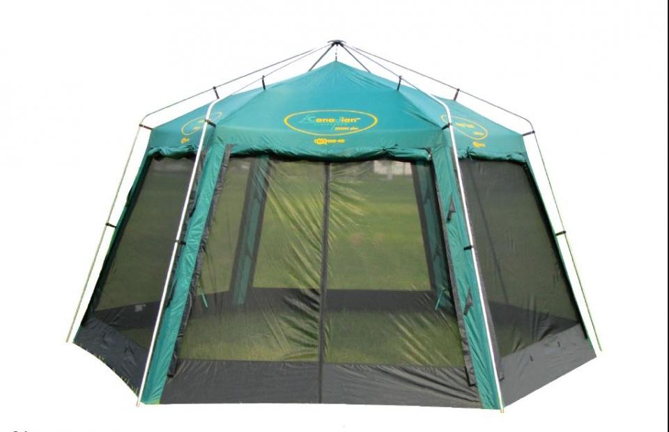 Тент-шатер Canadian Camper Zodiac PlusЭкспедиционный тент-шатер. Отсутствие пластиковых соединительных деталей позволяет его использовать даже в самых неблагоприятных погодных условиях. Стенки из антимоскитной сетки защищены от дождя убирающимися в случае необходимости шторами.<br><br>Вес кг: 10.10000000