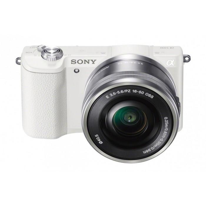 Фотоаппарат Sony Alpha A5100 Kit Selp16-50 white со сменной оптикойПокоряйте новые вершины фотографии с феноменальной фокусировкой. Быстрая гибридная автофокусировка с 179 точками определения и интуитивно понятная активация для профессиональных результатов.<br><br>Улучшенная, но интуитивно понятная система фокусировки обеспечивает невероятную четкость и контрастность изображений и видео — вы не упустите ни одного кадра.<br><br>Технология 4D FOCUS обеспечивает непревзойденную работу системы автофокуса в четырех измерениях: широкая зона охвата (2 измерения по горизонтали и вертикали), скорость работы автофокуса (3-е измерение, глубина) и следящий автофокус с упреждением (4-е измерение, время).<br><br>Матрица Exmor™ APS-C CMOS 24,3 МП. Размещение интегральных линз без зазоров оптимизирует светосилу и минимальный уровень шума.<br><br>Усовершенствованный процессор изображений BIONZ X™. Улучшенный процессор использует алгоритм понижения шума для фотографий при слабом освещении, с более естественными цветами и детализацией<br><br>Высокий диапазон ISO. Расширенная чувствительность для создания естественных фотографий при слабом освещении или в помещении без использования вспышки.<br><br>Вес кг: 0.30000000