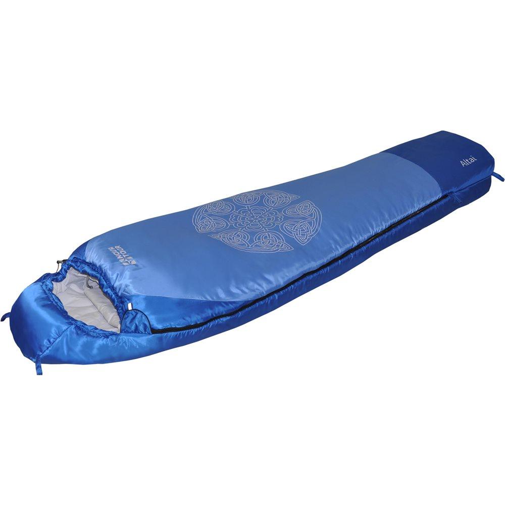 Спальный мешок Nova Tour Алтай V2Конструкция - кокон с синтетическим наполнителем. Оснащён утеплённым утягивающимся капюшоном и шейным воротником, двухзамковой молнией, позволяющей состегнуть два спальника левого и правого исполнения в один двойной. Компрессионный чехол в комплекте.<br><br>Вес кг: 1.60000000