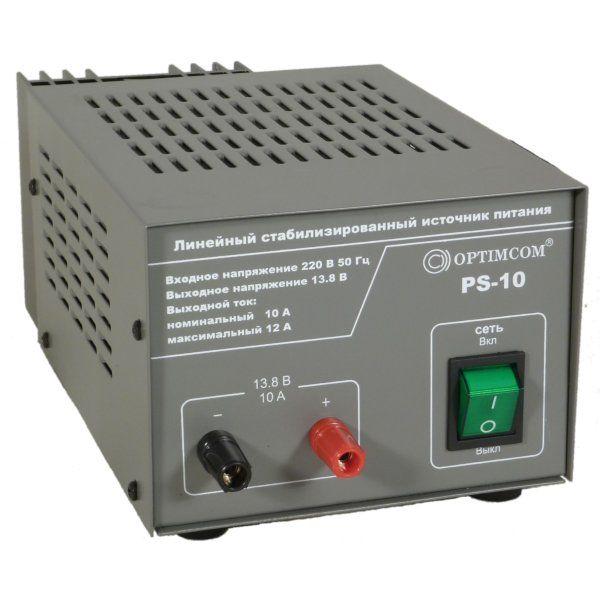 Блок питания OPTIM PS-10PS-10  это высокоэффективный, компактный, обладающий высокими техническими характеристиками блок питания. <br>Классическая схема, с применением понижающего трансформатора, не создаёт помех высокочастотному оборудованию и препятствует<br>проникновению помех из питающей сети.<br>Блок питания предназначен для питания  КВ и УКВ радиостанций, а также различного радиооборудования с напряжением питания 13,8 В.<br><br>Вес кг: 4.10000000