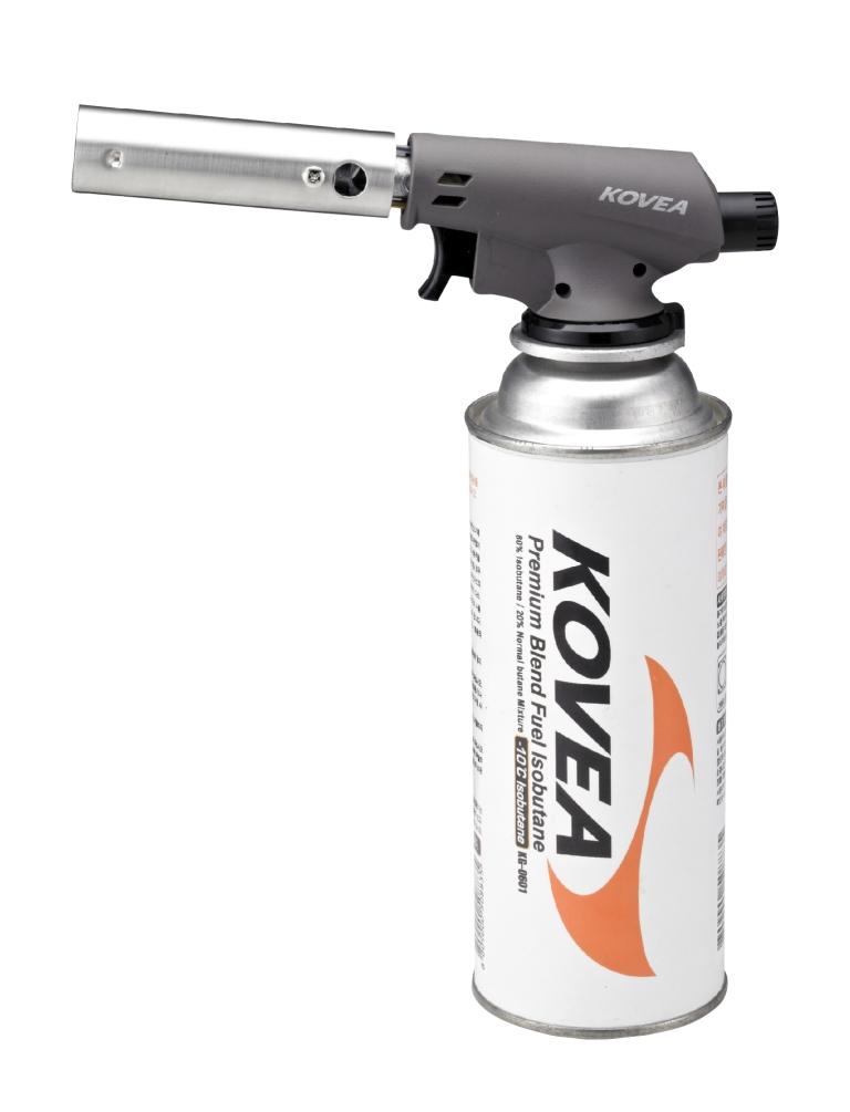 Резак газовый Kovea Fire-Z Torch KGT-1406Газовый резак Kovea Fire-Z Torch KGT-1406 - предназначен для прогревания и размораживания поверхностей в пламени горящего газа, разжигания костров, печей, мангалов, ремонта пластика, термоусадочных работ.<br><br>Прибор имеет пьезоподжиг и работает от цангового баллона;<br>Плавная регулировка пламя;<br>Система предварительного подогрева обеспечивает стабильное пламя (даже если в баллоне остается мало газа), возможность использовать резак на холоде, а также полное сгорание топлива.<br><br>Вес кг: 0.20000000