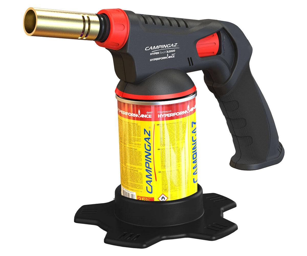 Лампа паяльная газовая Campingaz HyperTorch A2000Газовая паяльная лампа Campingaz 3000004128 HyperTorch A2000 . Температура пламени - 1930 °С. Используемое топливо - газовые баллоны CG1750 HY ; CG3500HY. Вес - 0,258 кг . Мощность 2240 вт.<br><br>Вес кг: 0.30000000