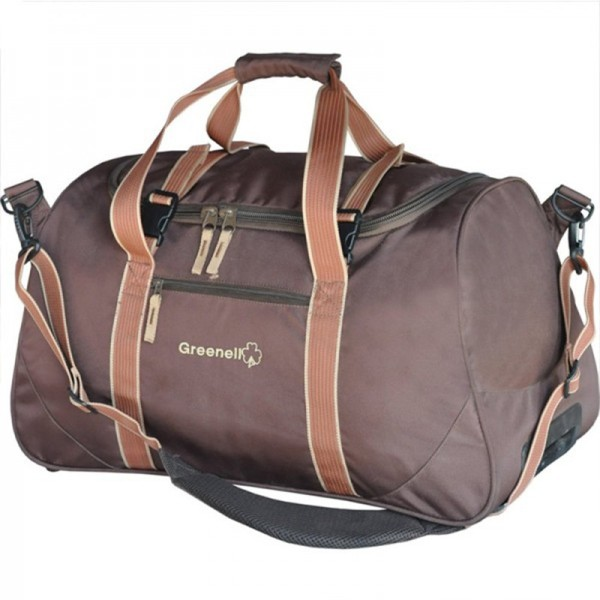 Сумка на колесах Greenell Равел 55 коричневыйВместительная сумка на колесах Greenell Равел 55 для поездок и путешествий. Конструкция и материалы выдерживают большой вес и большие нагрузки. Сумку можно ставить вертикально. Есть несколько внутренних и внешних карманов. Вмещает приличное количество вещей.<br><br>Вес кг: 2.60000000