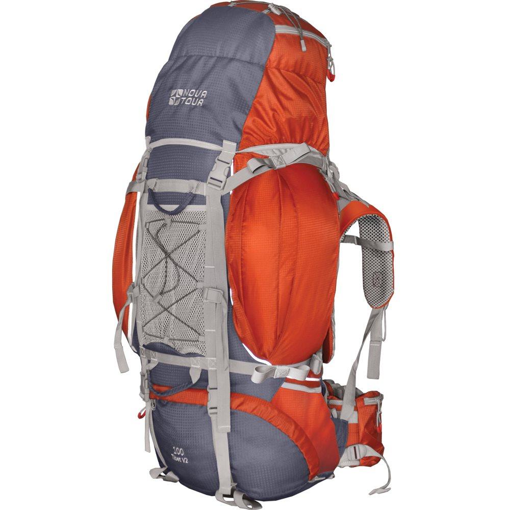 Рюкзак Nova Tour Тибет 100 v2 серый/терракотовыйПрочный рюкзак большого объема для классического туризма. Вы можете не ограничивать себя в количестве вещей, ведь этот рюкзак с двумя вместительными карманами на молнии, карманами для фляги и мелочей по обеим бокам рюкзака, а также объемным клапаном. Ваша спина не устанет во время длительных переходов с удобной подвесной системой, разработанной специально для переноски тяжелых грузов. Дождевик, теплый или сменная обувь будут всегда под рукой с сетчатым карманом спереди и эластичной шнуровкой на клапане рюкзака. Удобство при погрузке рюкзака в транспорт обеспечивают три усиленных ручки. Если в пути застанет дождь или снег не беда! В специальном кармане на дне рюкзака упакован непромокаемый гермочехол. На концах боковых стяжек имеются липучки для закрепления излишков стропы.<br><br>Вес кг: 2.60000000
