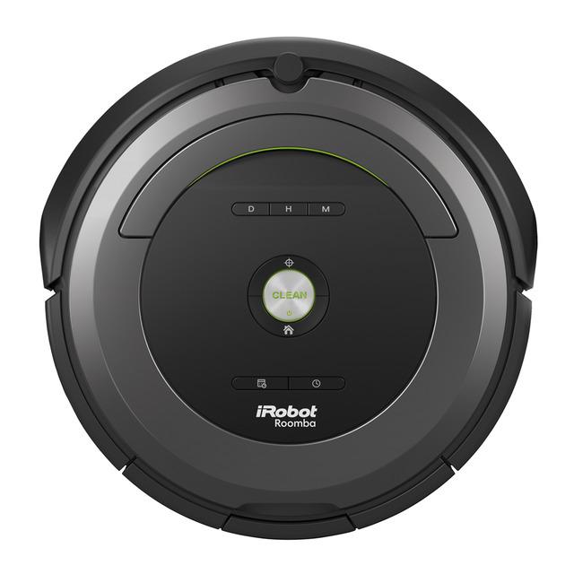 Робот-пылесос iRobot Roomba 681Робот с проверенной временем легкой системой управления и обновленным дизайном в стиле техно. Укомплектован литий-ионной аккумуляторной батареей, обеспечивающей без дополнительной подзарядки уборку продолжительностью до 3-х часов. В комплектацию включено устройство «Virtual Mode 2 в 1», работающее в 2-х режимах. В режиме классического ограничителя это устройство удобно использовать для запрета прохода робота через открытые двери, или дверные проемы без дверей. В режиме hallo устройство обычно используется для того, чтобы робот «не подходил» близко к миске или коврику вашего домашнего питомца или чтобы не приближался к хрупкой напольной вазе и т.п..<br><br>Roomba 681 — представитель 600-ой серии (6-ого поколения) роботов, которые выпускает компания iRobot, в нем использованы новейшие разработки в области робототехники, навигации в помещении, вакуумной уборки. Roomba 681 предназначен для сухой уборки напольных покрытий: плитки, ламината, паркета, ковров с коротким ворсом.<br><br><br>Возвращается на зарядную базу после окончания цикла уборки.<br><br>Укомплектован контейнером AeroVac Bin.<br><br>Вращающиеся с высокой скоростью щетки эффективно собирают мусор в мусоросборник, легко вынимаются и очищаются.<br><br>Фильтр тонкой очистки удерживает мелкие частицы пыли и аллергены.<br><br>Оснащен системой «антипутаница», которая помогает Roomba не застревать в проводах, шнурах, бахроме ковров.<br><br>Боковая лопастная щетка позволяет очень эффективно чистить вдоль плинтуса и в углах помещения.<br><br>Оснащен сенсорами перепада высоты, распознает ступеньки, иные перепады высоты и избегает падения.<br><br>1 год гарантии, сертифицированный сервис<br><br>Вес кг: 3.60000000