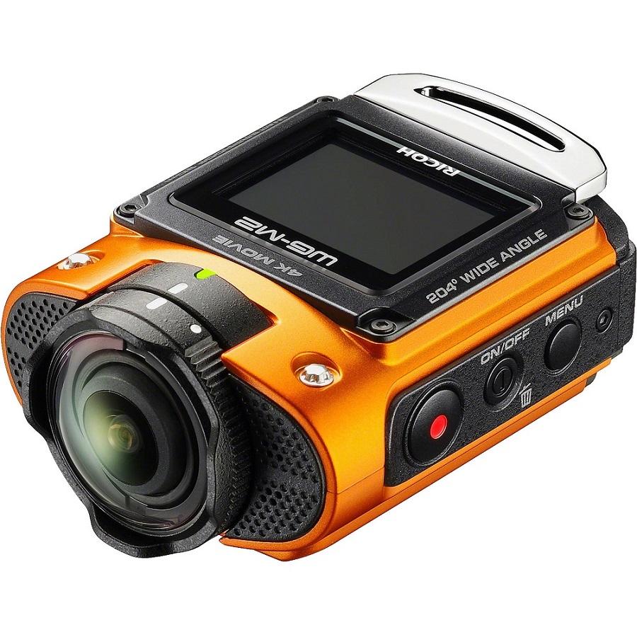 Экшн-камера Ricoh WG-M2Камера Ricoh WG-M2 высококлассная, прочная, action- камера с ультраширокоугольным объективом<br><br><br>Фото- и видеосъемка на глубине до 20 м без бокса<br><br>Прочный корпус выдерживает удары и падения<br><br>Разрешение видео до 4K (30 к/с), видео time lapse<br><br>Высококачественный объектив с углом зрения до 204°, f/2<br><br>Цветной ЖК-монитор<br><br>Управляется со смартфона по Wi-Fi<br><br>Очень легкая, компактная, эргономичная<br>