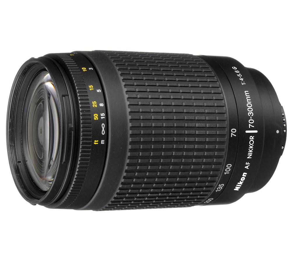 Объектив Nikon 70-300mm f/4-5.6G Zoom-NikkorС этим зум-объективом формата DX вы будете готовы к увлекательным приключениям в мире супертелефотосъемки.<br><br>Благодаря универсальному диапазону фокусных расстояний 70–300 мм и легкой конструкции этот телеобъектив станет идеальным решением для фотографов, которые хотят овладеть секретами телефотосъемки. Хотите запечатлевать происходящие вдалеке события, сохранять на великолепных снимках неповторимые моменты путешествий или попробовать себя в съемке дикой природы? Высокое качество результатов и превосходная резкость гарантированы в любых ситуациях.<br><br>Этот объектив фокусируется быстро и бесшумно, поэтому он отлично подходит для съемки как фотографий, так и видеороликов. Благодаря оптимизированной конструкции объектив отличается компактностью и идеально сочетается с небольшими цифровыми зеркальными фотокамерами Nikon формата DX?.<br><br>Вес кг: 0.40000000