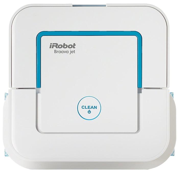 Робот-пылесос iRobot Braava Jet 240Робот полотер iRobot Braava Jet 240.<br><br>Чистит полы эффективно: Создан для уборки небольших помещений, таких как кухни и ванные комнаты, каждый день. Компактная конструкция позволяет убирать в труднодоступных местах: со своей квадратной формой и компактными размерами, Турбо-Джет™ проникает в труднодоступные места, в том числе вокруг туалетов, в углах и под шкафами. Тщательно очищает вокруг препятствий: Турбо-Джет™ запоминает препятствия на своем пути и замедляет ход мягко очищать вдоль мебели, стен, светильников. Избегает лестниц и ковров: Турбо-Джет™ не падает с лестниц и других обрывов, позволяет избежать заезда на ковры. Знает путь обратно: Турбо-Джет™ возвращается в свою исходную точку после завершения очистки запустите. Понимает когда уборка закончена: Турбо-Джет™ автоматически выключается после выполнения очистки, или если он сталкивается с проблемой.<br><br>Робот-пылесос iRobot Braava Jet 240 имеет 3 режима уборки: Сухая уборка. Предусматривает движение устройства по прямой линии прямо и обратно. Оборудование обеспечивает эффективную и тщательную уборку грязи, пыли и волос; Влажная уборка. Робот-пылесос движется по особой траектории, имитируя уборку простой шваброй. Прибор эффективно удаляет грязь и пятна с поверхности пола. Полотер имеет резервуар для воды с моющим средством, который распределяет воду для влажной уборки. Площадь уборки роботом-пылесосом Braava Jet 240 за один цикл — до 60 м? (сухая) и до 30 м? (влажная уборка).<br><br>Дополнительные возможности<br><br><br>Идеален для уборки небольших помещений. Полного заряда батареи робота Braava Jet 240 хватает на уборку 60 квадратных метров.<br><br>Одного полного резервуара хватает для чистки 30 квадратных метров.<br><br>Заложенная модель уборки подразумевает уборку одной области в среднем до четырёх раз.<br><br>Датчики защиты от падений позволяют Braava Jet 240 избегать лестниц и других опасных мест.<br><br>Робот использует только чистую водопроводную воду или специ