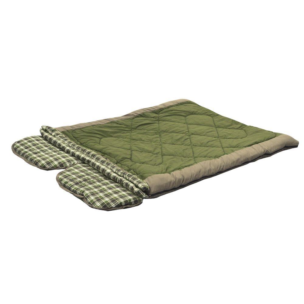 Спальный мешок Prival Double-LuxТМ PRIVAL представляет новинку - уникальную модель, спальный мешок-трансформер Double-Lux. Этот универсальный, комфортный спальный мешок разрабатывался для любителей активного отдыха: на природе с семьей, на охоте или рыбалке, на даче. Модель представляет собой очень большое одеяло с двумя подголовниками, рассчитанное на двоих человек. Благодаря продуманной конструкции и специальной фурнитуре этот спальный мешок можно трансформировать в несколько вариантов:<br><br><br>два отдельных спальника: один с подголовником, один спальный мешок-одеяло;<br><br>два отдельных спальника-одеяла;<br><br>один спальный мешок на увеличенном, двойном слое утеплителя<br><br><br>Так как спальный мешок разрабатывался в первую очередь как семейный, большое внимание было уделено качеству тканей - внутренняя ткань спального мешка фланель 100% хлопок, экологичный и натуральный материал; внешняя - дышащая ткань Дюспа. В качестве утеплителя используется силиконизированное нетканое полотно ФАЙБЕР экологически чистый наполнитель, обладающий способностью долгое время сохранять форму, не деформироваться в процессе эксплуатации. Спальный мешок упаковывается в компресионный чехол.<br><br>Вес кг: 4.80000000