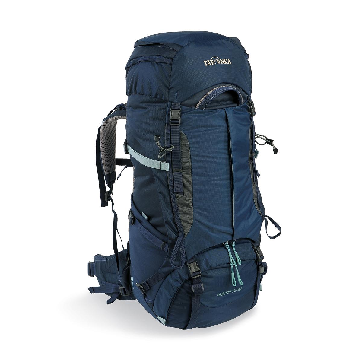 Рюкзак Tatonka Yukon 50+10 Women navyЖенский рюкзак Tatonka Yukon 50+10 Women - это идеальный выбор для широкого спектра туризма. Рюкзак оптимизирован для нагрузок до 25 кг и предлагает идеальное сочетание легкости, прочности и производительности. Вес и эффективность v2 - это несущая система, которая на протяжении многих лет получила высшие награды, была улучшена для сезона 2017, с одной стороны, за счет использования более легких материалов, а с другой с трехмерным поясным. Удобный вход по центру рюкзака даёт возможность гораздо проще произвести укладку. Дно рюкзака изготовлено из прочного материала Cordura.<br><br>Вес кг: 2.30000000