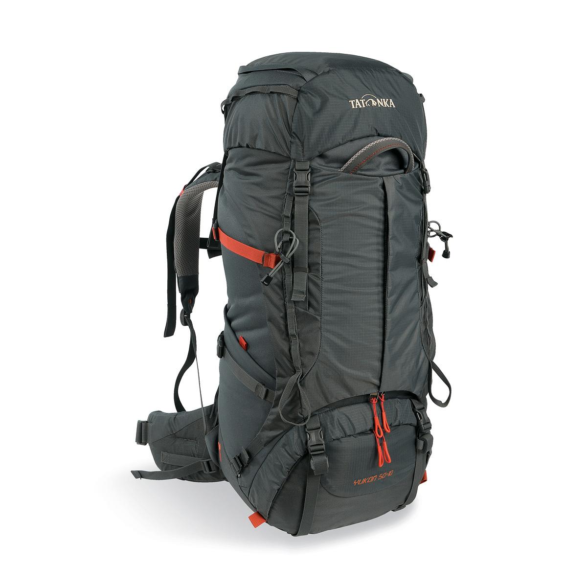 Рюкзак Tatonka Yukon 50+10 Women titan greyЖенский рюкзак Tatonka Yukon 50+10 Women - это идеальный выбор для широкого спектра туризма. Рюкзак оптимизирован для нагрузок до 25 кг и предлагает идеальное сочетание легкости, прочности и производительности. Вес и эффективность v2 - это несущая система, которая на протяжении многих лет получила высшие награды, была улучшена для сезона 2017, с одной стороны, за счет использования более легких материалов, а с другой с трехмерным поясным. Удобный вход по центру рюкзака даёт возможность гораздо проще произвести укладку. Дно рюкзака изготовлено из прочного материала Cordura.<br><br>Вес кг: 2.30000000