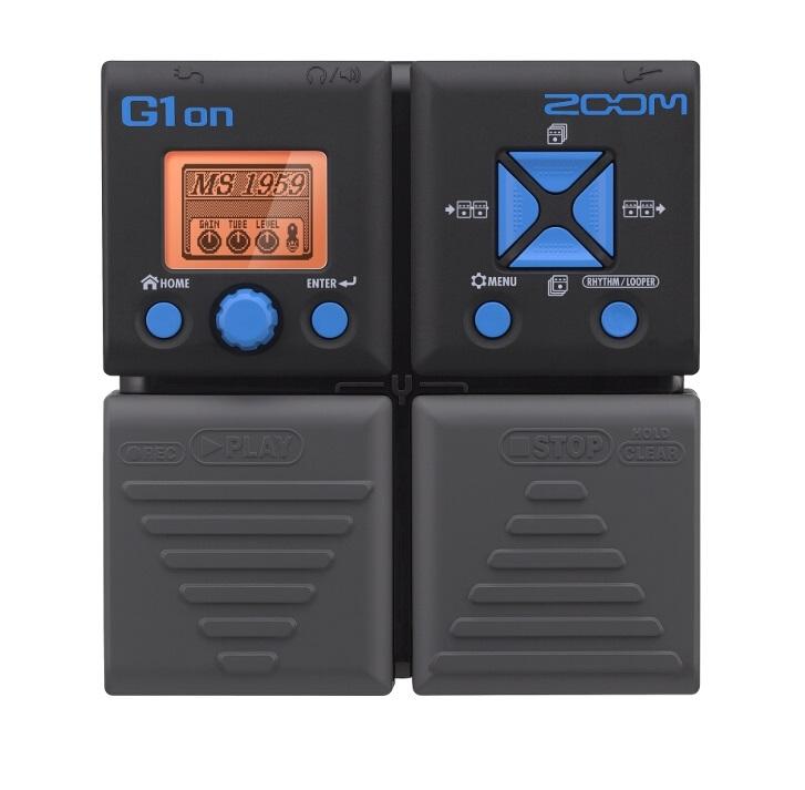 Гитарный процессор Zoom G1onG1on предлагает гитаристу 75 гитарных эффектов, включая широкий ряд видов дисторшна, компрессии, модуляции, задержки и реверберации. Одновременно можно применять до пяти эффектов, перемешанных между собой в любой желаемой манере. Вдобавок, вы можете выбрать один из 68 встроенных вариантов аккомпанемента, а также подключать наушники через выход джек (а также портативный аудио плеер через вспомогательный вход) для работы в полной тишине. Встроенный хроматический тюнер поддерживает все стандартные гитарные настройки, а функция Looper позволит вам записывать до 30 секунд в качестве CD audio. Длина записи может быть отрегулирована вручную или задана определенным количеством четвертых нот. С помощью этой функции можно создавать любой ритм с автоматической настройкой, которая делает начало и конец записи незаметными. Программирование настроек стало легко и понятно благодаря современному и удобному интерфейсу, а также большому LCD-дисплею. Продвинутые функции копирования (Copy) и перестановки (Swap) облегчают процесс упорядочивания ваших патчей для живого выступления. Функция Autosave гарантирует, что результаты вашей работы будут сохранены автоматически, а возможность предварительного выбора (Pre Select) позволяет вам бесшумно просматривать список патчей, продолжая использовать текущий патч.<br><br>Вес кг: 0.60000000