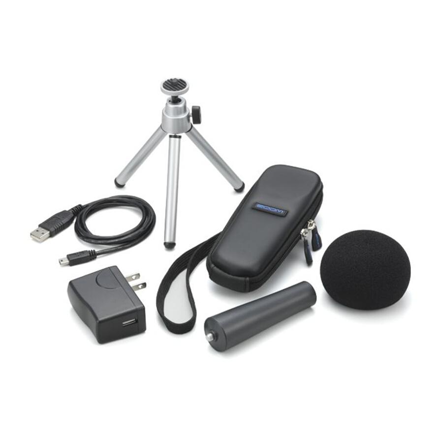 Комплект аксессуаров Zoom APH1 для Zoom H1APH1 — это набор аксессуаров, который станет идеальным компаньоном для вашего портативного аудиорекордера Zoom H1.<br><br><br>Ветрозащита<br><br>Сетевой адаптер (USB типа)<br><br>USB кабель<br><br>Регулируемый штатив<br><br>Защитный чехол<br><br>Держатель для микрофонной стойки<br>