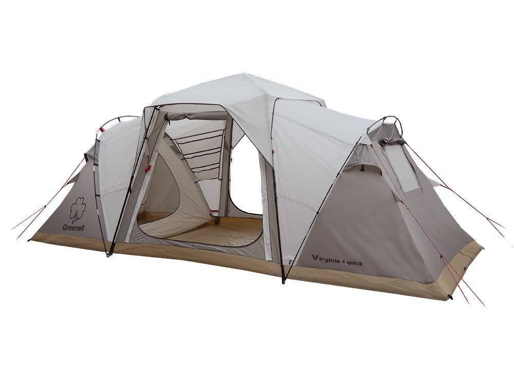 Палатка Greenell Виржиния 6 квикПалатка Greenell Виржиния 6 квик. Система Антимоскит для защититы от комаров и мошек. Два спальных отделения. Просторный тамбур с двумя входами. Эффектная система вентиляции. Возможна отдельная установка тента.<br><br>Вес кг: 19.50000000