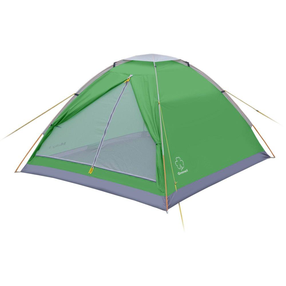 Палатка Greenell Моби 3 V2Легкая однослойная палатка Alaska Moby 3 V2 для частой смены лагеря.<br><br>Пол имеет высокий порог и выполнен из полистера с PU 3000 , что обеспечивает хорошую защиту от влаги и снижает вес изделия. Собранную палатку легко перемещать с места на место, а в случае необходимости можно закрепить с помощью оттяжек.<br><br>Вес кг: 1.70000000