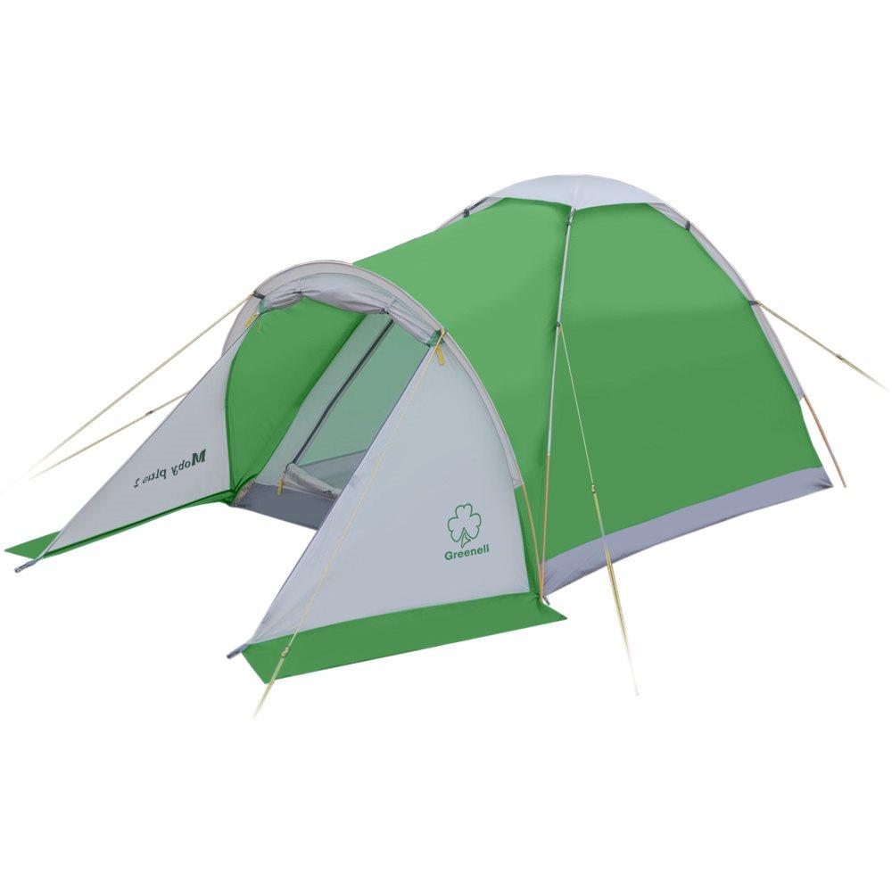 Палатка Greenell Моби 2 плюсПалатка Alaska Moby 2 плюс. Простота конструкции палатки позволяет бысто ее установить и снять.<br><br>Есть тамбур для вещей. Пол имеет высокий порог и выполнен из полистера с PU 3000 , что обеспечивает хорошую защиту от влаги и снижает вес изделия. Собранную палатку легко перемещать с места на место, а в случае необходимости можно закрепить с помощью оттяжек.<br><br>Вес кг: 2.10000000