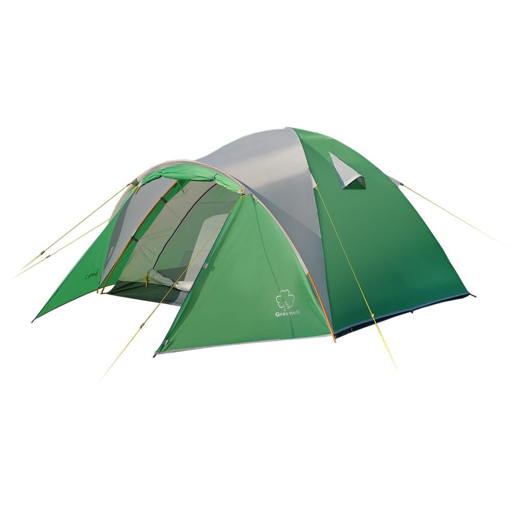 Палатка Greenell Дом 3Туристическая палатка&amp;nbsp; Alaska Dome 3 повышенного комфорта с удобным тамбуром. Швы проклеены, москитная сетка на входе, просторный тамбур.<br><br>Размеры данной модели позволяет чувствовать себя очень комфортно не только во время сна, но и при дневном укрытии от непогоды. Антимоскитные сетки на входе и окнах защитят от назойливых насикомых. Объемный тамбур позволяет разместить не только обувь, но и часть снаряжения. Возможна установка без тента.<br><br>Вес кг: 3.10000000