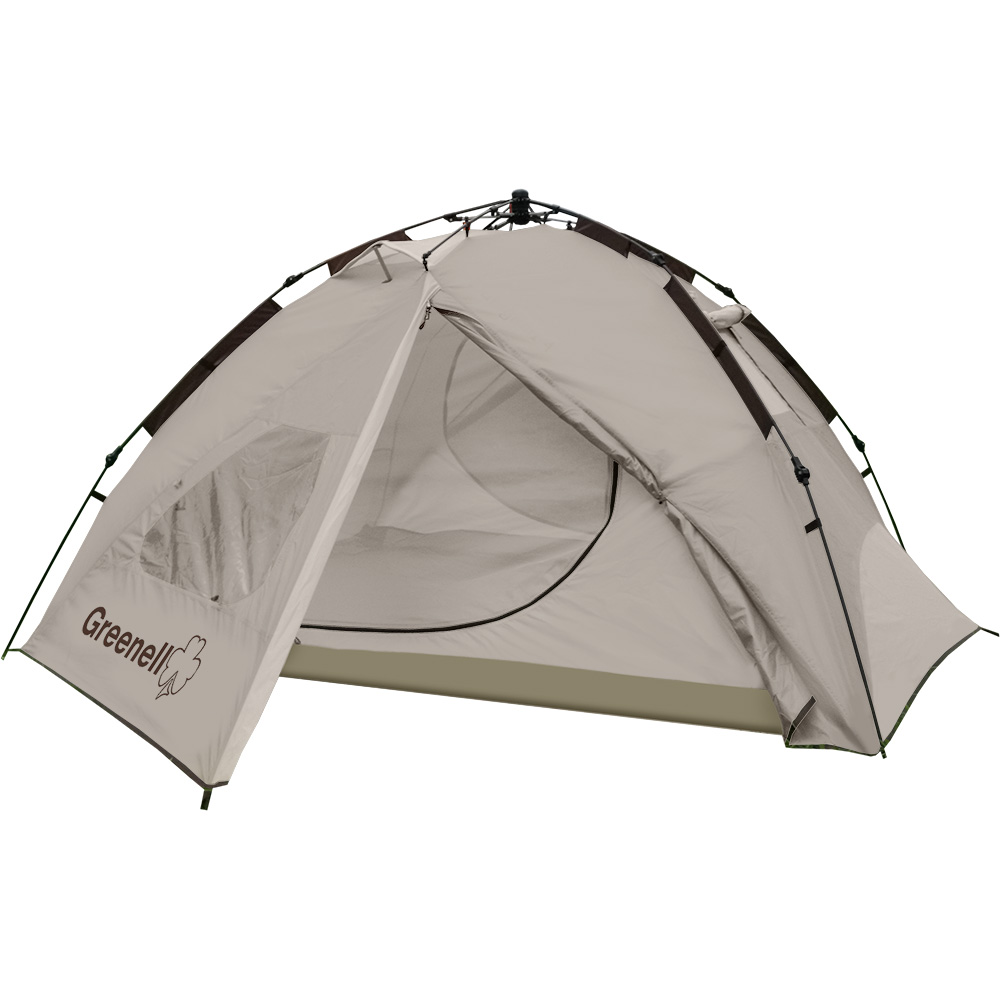 Палатка Greenell Донган 4Палатка с автоматическим каркасом Greenell Донган 4. Два входа и тамбура. Тент с козырьком. Внутренная палатка и тент устанавливаются одновременно. Легко ставиться одним человеком. Минимум времени для установки и сборки.<br><br>Вес кг: 5.90000000