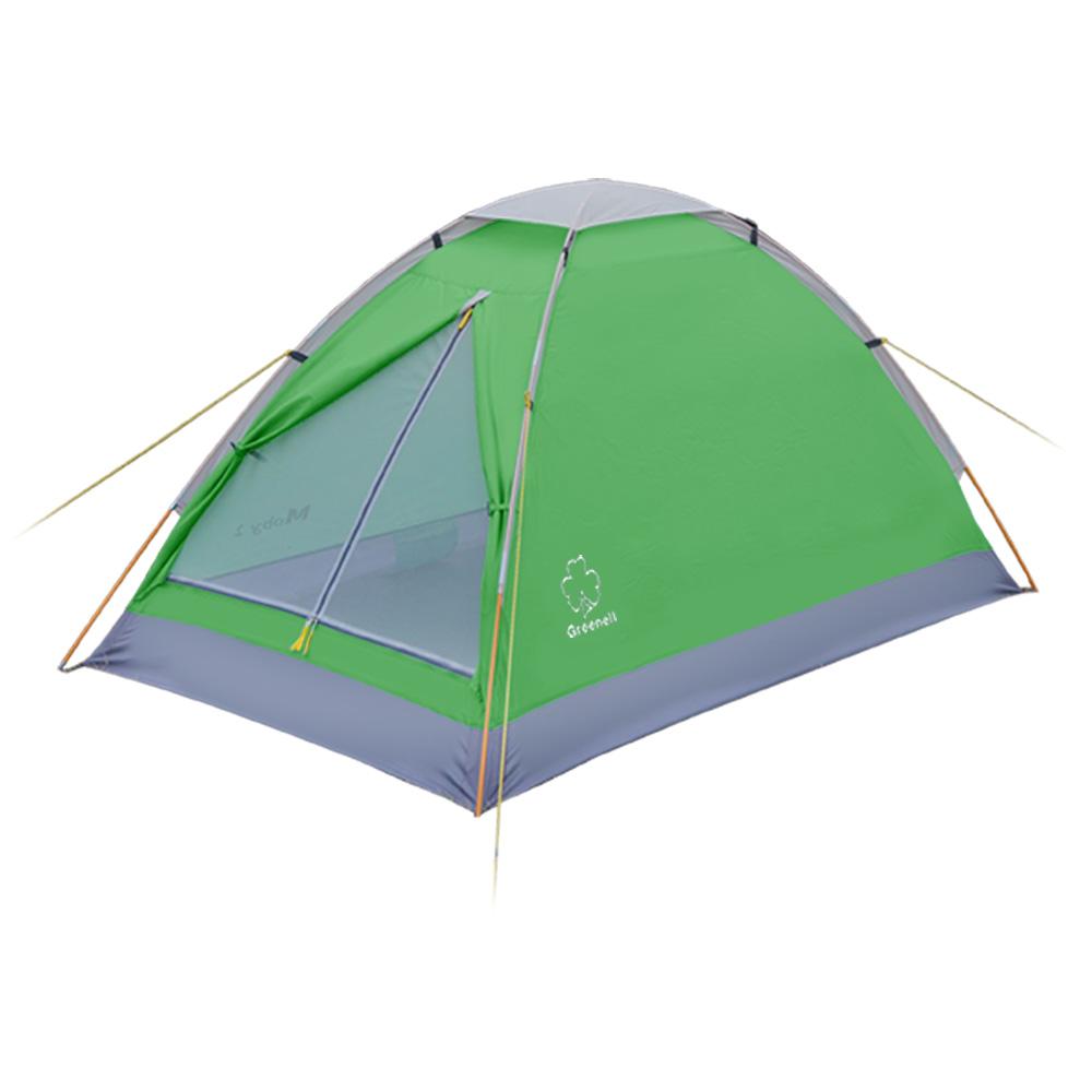 Палатка Greenell Моби 2 V2Простота конструкции палатки Greenell Moby 2 V2 позволяет бысто ее установить и снять. Пол имеет высокий порог и выполнен из полистера с PU 3000 , что обеспечивает хорошую защиту от влаги и снижает вес изделия. Собранную палатку легко перемещать с места на место, а в случае необходимости можно закрепить с помощью оттяжек.<br><br>Вес кг: 1.40000000