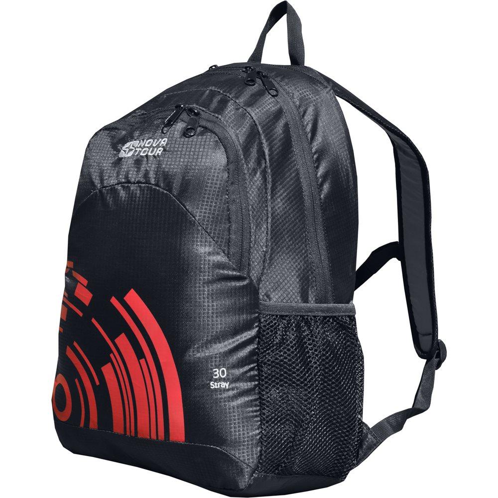 Рюкзак Nova Tour Стрэй 30 черныйОблегченный городской рюкзак с органайзером, карабином для ключей и боковыми карманами из сетки.<br><br>Вес кг: 0.50000000
