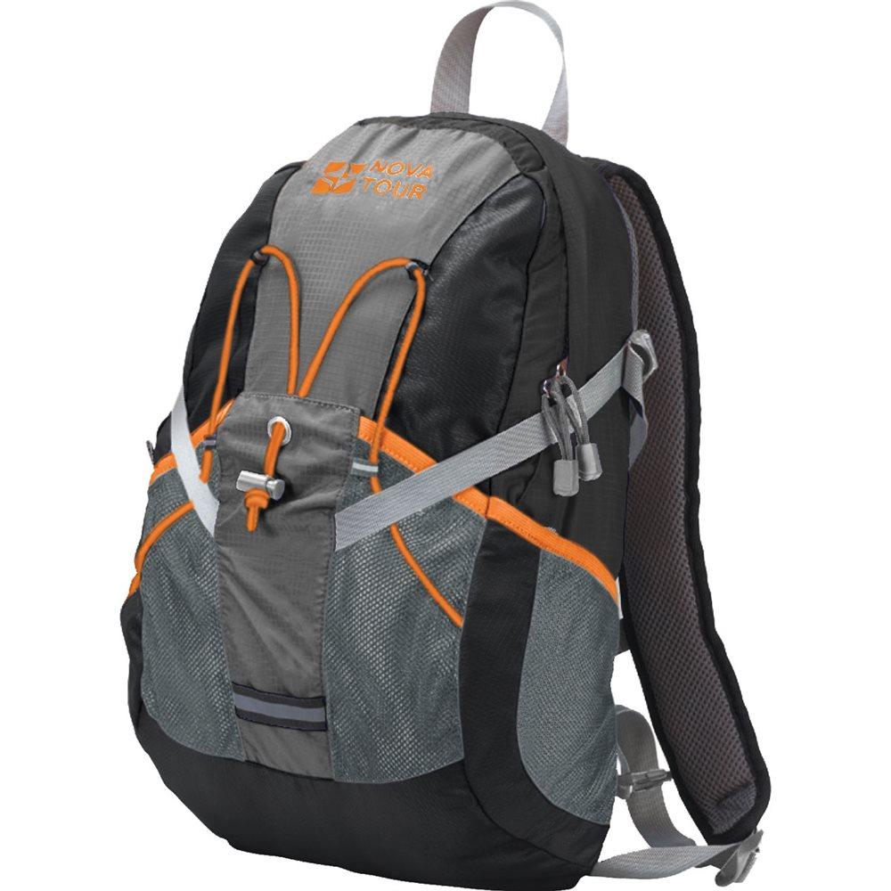 Рюкзак Nova Tour Вижн 20 черный/серыйПрактичный рюкзак для города и спорта Nova Tour Вижн 20. Полужесткие вставки в спине рюкзака, крепление для шлема, отделение для гидратора, боковые карманы из сетки – специально для подвижных людей.<br><br>Вес кг: 0.60000000