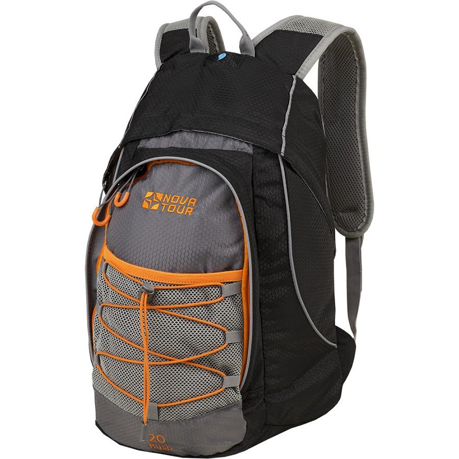 Рюкзак Nova Tour Раш 20 черный/серыйРюкзак Nova Tour Раш 20 для занятий активными видами спорта. Карман из сетки, дублируемый эластичным шнуром на фронтальной части. Удобный органайзер. Съемный пояс.<br><br>Вес кг: 0.70000000