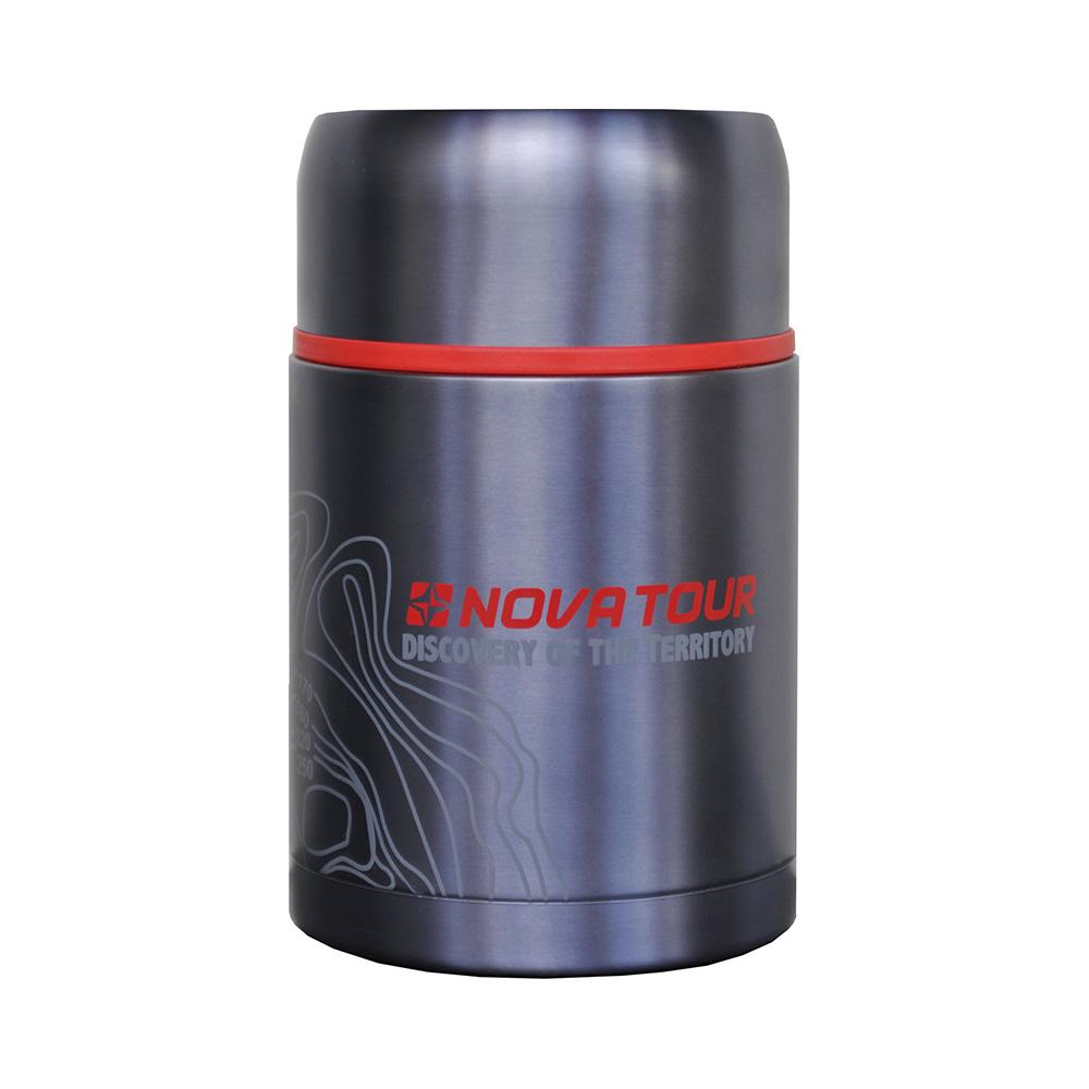 Термос Nova Tour Капсула 800Компактный термос, ёмкостью 0,8л, выполненный из пищевой нержавеющей стали, с поворотным клапаном (Достаточно повернуть пробку на пол-оборота чтобы налить содержимое из термоса), который дает возможность при наливании не открывать термос целиком для меньшего охлаждения содержимого. Широкое горло дает возможность использовать термос для первых и вторых блюд.<br><br>Вес кг: 0.70000000