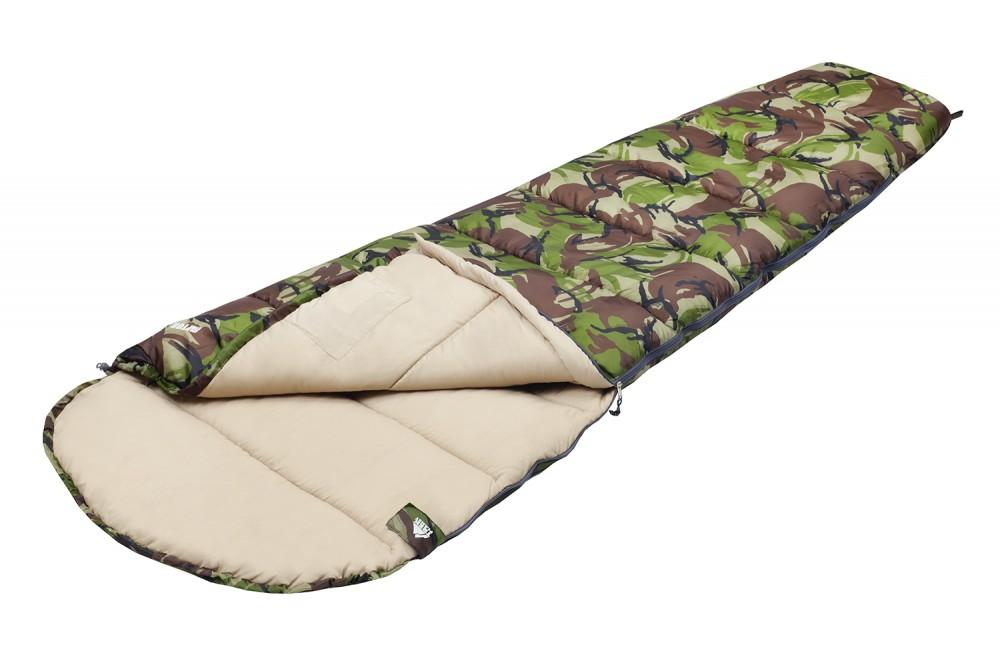 Спальный мешок Trek Planet RaptorКомфортный, просторный, теплый и удобный спальник-кокон TREK PLANET Raptor в камуфляжном исполнении предназначен как для летних, так и для весенне-осенних поездок на природу. Идеально подойдет для людей, любящих походы, рыбалку, охоту или просто качественные камуфляжные вещи.<br><br><br>Спальник-кокон в камуфляжном исполнении,<br><br>Удобный глубокий капюшон,<br><br>Затягивающаяся шнуровка по краю капюшона,<br><br>Молния с левой стороны,<br><br>Тепловой ворот,<br><br>Термоклапан вдоль молнии,<br><br>Внутренний карман,<br><br>Небольшой вес,<br><br>К спальнику прилагается чехол для удобного хранения и переноски.<br><br>Вес кг: 1.20000000