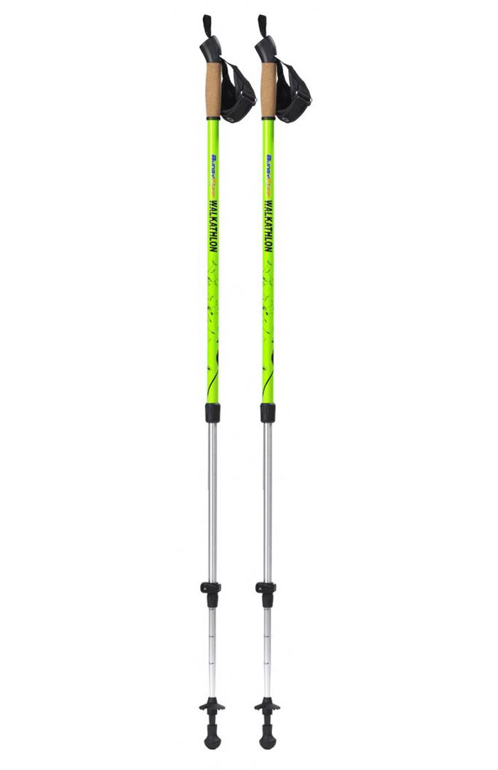 Палки BungyPump Walkathlon телескопические с усилиемРеволюция в Скандинавской ходьбе. Теперь сжигаем на 77% больше калорий, тренируем мышцы рук, спины, пресса и т.д. с революционными палками Bungy Pump Active (БанджиПамп Актив). Работают 95% мышц тела. Они кардинально отличаются от обычных палок для ходьбы тем, что имеют усилие на сжатие. Что это значит?! Теперь при ходьбе, чтобы оттолкнуться от земли вам необходимо продавить усилие от 4 до 6 кг. Механизм с ходом 20 см работает как настоящий АНТИШОК. А это — дополнительные энергозатраты, дополнительная нагрузка — как следствие тренировка мышц без походов в спортзалы. С палками Bungy Pump не надо тратить время и деньги на покупку дорого абонемента в фитнес-клуб. И самое главное, только эти палочки имеют запатентованную систему фиксации усилия. Это значит, что вы можете использовать эти палки, в том числе, и как обыкновенные для скандинавской ходьбы, просто зафиксируйте их и все. Занимайтесь на свежем воздухе с революционными палками Bungy Pump Active, закаляйте здоровье и экономьте грамотно! Производство Швеция.<br>