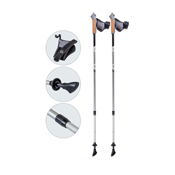 Палки Ecos AQD-B016 телескопические для скандинавской ходьбыПалки для скандинавской ходьбы Ecos телескопические с системой антишок арт.AQD-B016<br>
