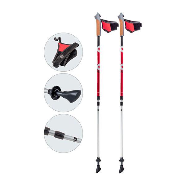 Палки Ecos AQD-B021 телескопические для скандинавской ходьбыПалки для скандинавской ходьбы Ecos арт.AQD-B021 телескопические с системой антишок<br>