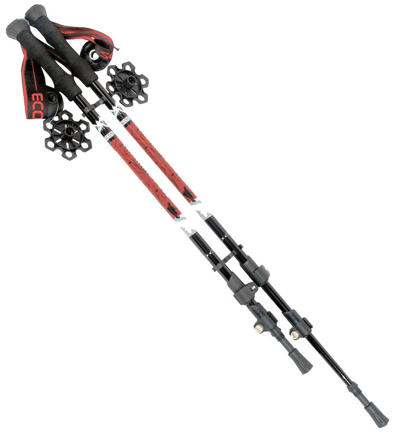 Палки Ecos AQD-C024B телескопические для скандинавской ходьбы и трекингаПалки Ecos AQD-C024B телескопические для скандинавской ходьбы и трекинга<br>