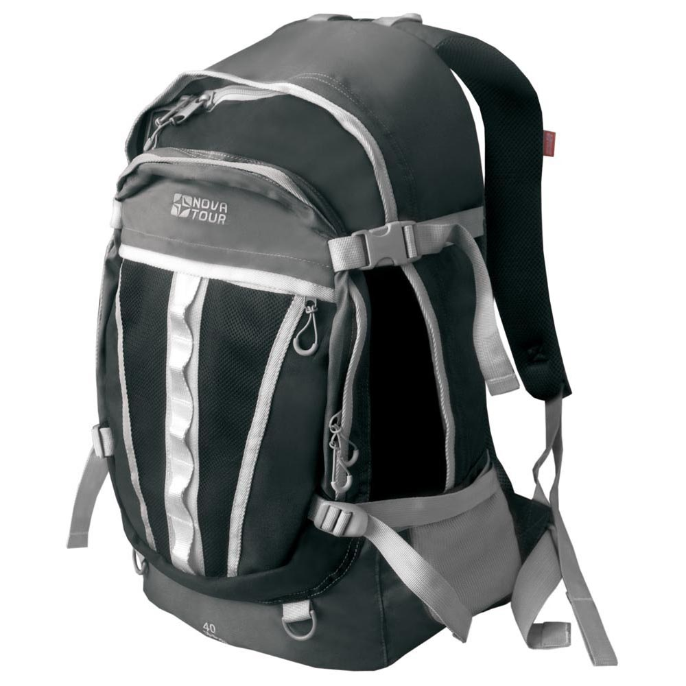 Рюкзак Nova Tour Слалом 40 v2 серый/черныйЕсли все, что нужно ежедневно носить с собой, не помещается в обычный рюкзак, то «Слалом 40 V2» и «Слалом 55 V2» специально для вас. Два вместительных отделения можно уменьшить боковыми стяжками или наоборот, если что-то не поместилось внутри, навесить снаружи на узлы крепления. Для удобства переноски тяжелого груза, на спинке предусмотрена удобная система подушек Air Mesh с полностью отстегивающимся поясным ремнем.<br><br>Вес кг: 0.80000000