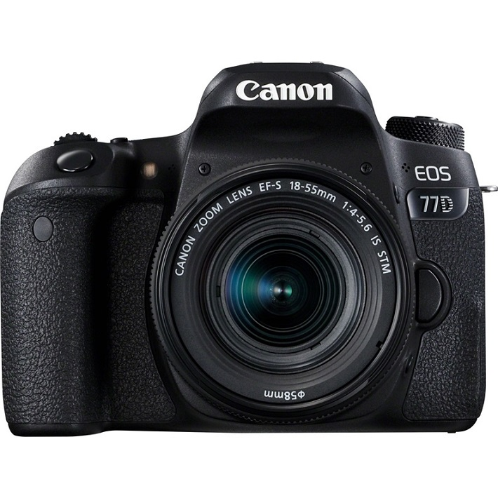 Зеркальный фотоаппарат Canon EOS 77D Kit EF-S 18-55 mm F/3.5-5.6 IS STMКамера предлагает максимальное удобство управления органами и функциями меню, включая два диска, отвечающих за настройку диафрагмы и выдержкми, а также ЖК-экран на верхней панели с информацией о настройках. Если вы начинающий фотограф, вам непременно понравятся подсказки работы различных настроек меню. Камера поддерживает модули NFC и Wi-Fi. Легко передавайте фотографии или видео на смартфон и планшет, или на Canon Connect Station, редактируйте и делитесь со всеми. Технология Bluetooth® позволяет дистанционно включать камеру и просматривать фотографии, не вынимая ее из рюкзака, а также управлять процессом съемки со смартфона или нового пульта дистанционного управления BR-E1.<br><br>Вес кг: 0.90000000