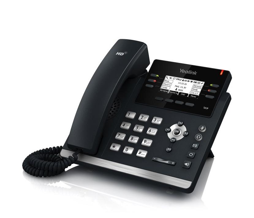 IP-телефон Yealink SIP-T41SYealink SIP-T41S — одна из младших моделей ультраэлегантной линейки IP-телефонов от Yealink. Аппарат во многом схож с Yealink SIP-T42S, однако является более бюджетной моделью за счет отсутствия гигабитного порта Ethernet. Продолжая традиции современной корпоративной линейки, новая модель отличается ультраэлегантным бизнес-дизайном, оснащена комплексом необходимых функций и продвинутыми техническими характеристиками. На задней стороне телефона предусмотрен специальный разъем EHS для подключения Yealink EHS36. Этот адаптер предназначен для подключения к телефону беспроводных гарнитур Jabra, Plantronics и Sennheiser. Благодаря же реализации нескольких страниц экранного меню, значения программируемых кнопок подписываются непосредственно на экране телефона, избавляя пользователей от бумажек на корпусе телефона, которые необходимо заполнять вручную.<br><br>Вес кг: 1.40000000