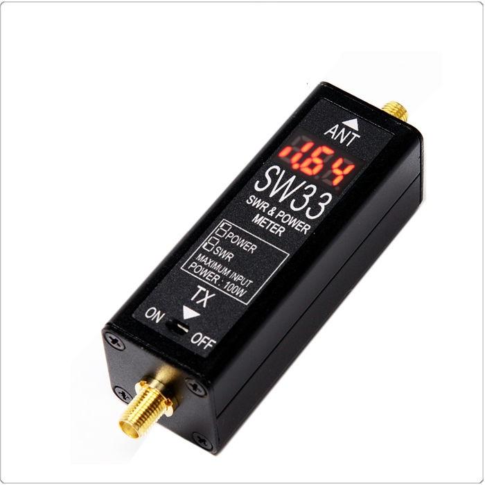 КСВ-Метр Surecom SW-33 125-525МГц, 100ВтКСВ-Метр Surecom SW-33.<br><br><br>Максимальная мощность 100 Ватт<br><br>За 3 секунды измерения показывает значение SWR и мощность передачи<br><br>Простое подключение и замер<br><br>Вес кг: 0.20000000