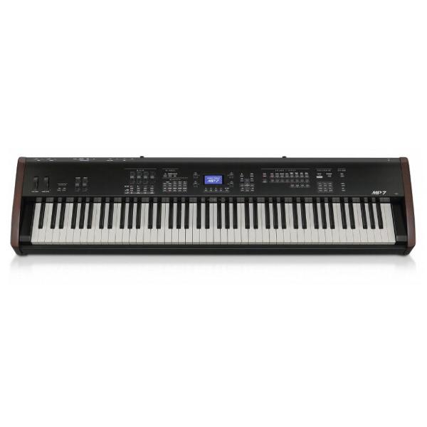 Сценическое пианино Kawai MP-7Цифровое пианино MP7 это идеальный выбор для музыкантов, дающих выступления. Он оснащен таким же тон-генератором, эффектами DSP, D/A конвертерами, а также 32 лучшими тембрами модели MP11. Он унаследовал невероятное качество звучания старшей модели, но в более компактном корпусе.<br><br>Клавиатура, изготовленная с использованием технологии Responsive Hammer II, идеально воссоздает ощущение игры на акустическом рояле. Клавиши оснащены тремя сенсорами, симуляцией отпускания клавиш и фирменным покрытием Ivory Touch. Также в вашем распоряжении уникальная система аналоговых эффектов и симуляторов усилителей (унаследованных от MP11), режим виртуального органа и многофункциональная MIDI-клавиатура, которая выделяет MP7, как самую гибкую в применении модель цифрового пианино в своей ценовой категории.<br><br>Вес кг: 21.00000000