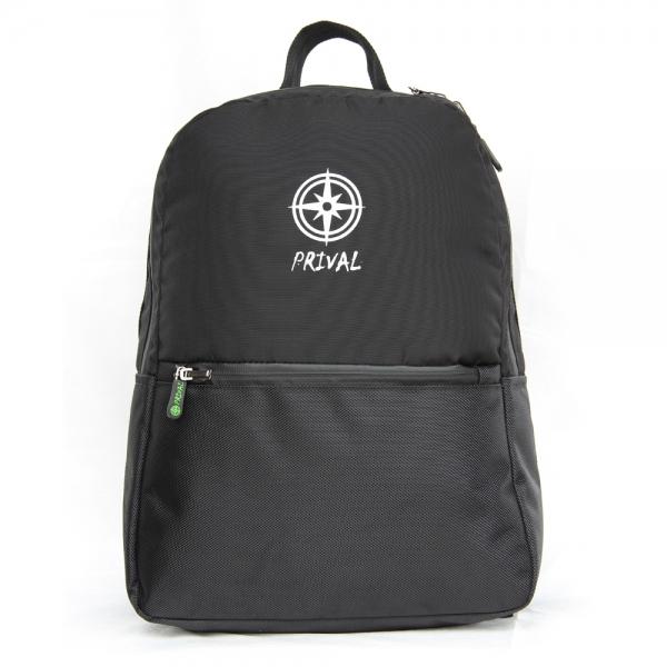 Рюкзак Prival Stark 15 ЧёрныйРюкзак Stark производства Prival - небольшой, стильный, удобный городской рюкзак предназначен для использования в городской среде, а также людям предпочитающим проводить время в движении и вести активный образ жизни. Выполнен рюкзак из прочной, износостойкой полиамидной ткани, дно - из ткани повышенной прочности кордура. Рюкзак состоит из основного отделения с внутренним карманом на резинке, в котором можно разместить планшет, тетради. С фронтальной стороны рюкзака расположен небольшой карман для мелочей. Рюкзак и фурнитура (молнии) в рюкзаке выполнены из водонепроницаемых материалов - это обеспечит сухость вещам даже при интенсивных осадках. Плечевые лямки рюкзака регулируемые, выполнены с использованием сетки air-mesh которая обеспечивает циркуляцию воздуха. В рюкзаке имеется удобная, прочная ручка для переноски.<br><br>Вес кг: 0.50000000