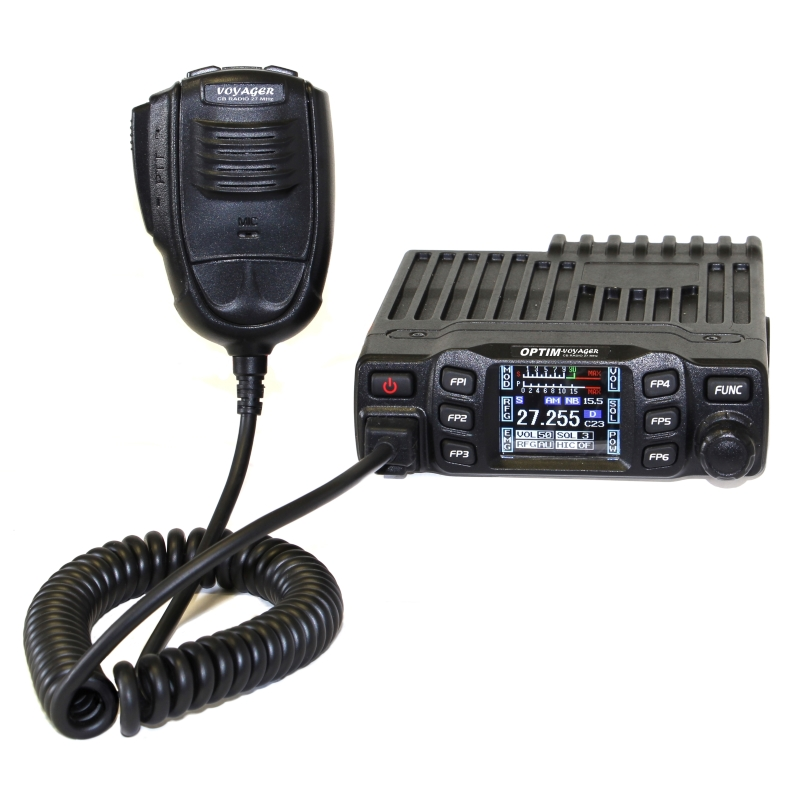 """Радиостанция Optim VOYAGERРадиостанция OPTIM-Voyager предназначена для осуществления двустороннего радиообмена в диапазоне частот 27 МГц (Гражданский диапазон, Си-Би,CB) с частотной или амплитудной модуляцией. Радиостанция предназначена для эксплуатации, как в автомобиле, так и в качестве базовой радиостанции. Отличительными особенностями радиостанции являются:<br><br><br>Наличие автоматического спектрального и ручного порогового шумоподавителей, незаменимых, при эксплуатации в городе и открытой местности.<br><br>Цветной LCD дисплей.<br><br>Клавиши быстрого перехода в """"общий вызывной автоканал"""" и """"канал вызова экстренной помощи"""".<br><br>Отображение даты и времени.<br><br>Ночной режим дисплея.<br><br>Функция """"антизатык"""".<br><br>Современный дизайн.<br><br>Отображение SWR.<br><br>Функция авто RFG.<br><br>Прочный корпус.<br><br>Защита от подключения к источнику питания обратной полярности.<br><br>Режимы сканирования, как по каналам памяти, так и в пределах сетки с возможностью создания листа сканирования.<br><br>Фильтр HI-Cut, который позволяет увеличивать разборчивость принимаемого сигнала в условиях сильных помех.<br><br>Возможность установки платы CTCSS/DCS.<br><br>Функция DTMF.<br><br>Вес кг: 1.10000000"""