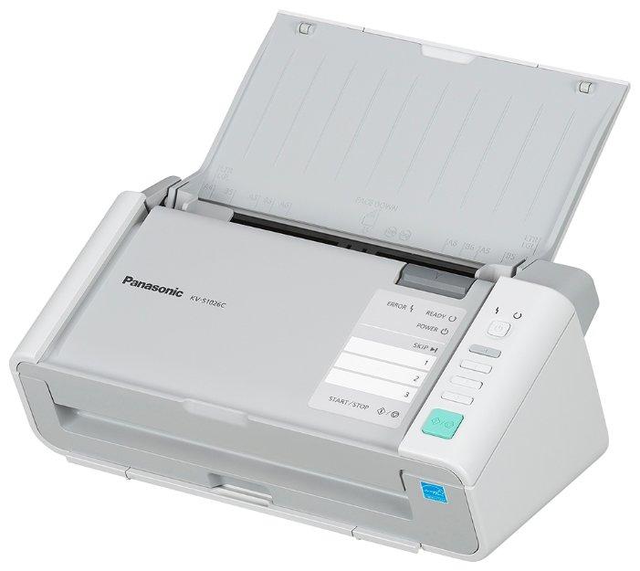 Сканер Panasonic KV-S1026C-X A4 белыйKV-S1026C - полноцветный дуплексный документ-сканер Panasonic.<br><br><br>Одновременное двустороннее сканирование<br><br>Методы сканирования: Обе стороны: Цветной контактный датчик изображения (600 dpi)<br><br>Скорость сканирования (А4, широкой стороной): черно-белый/цветной режим (200dpi): 30 стр/мин (одностороннее сканирование), 60 изобр/мин (двухстороннее)<br><br>Разрешение: 100-600 dpi (с шагом 1 dpi) (монохромное и цветное)<br><br>Емкость податчика документов: 50 листов (80 г/м2); 3 пластиковые карты (ISO-7810 ID-1)<br><br>Размер оригинала: от 48x70 мм до 216x2540 мм<br><br>Плотность бумаги: от 20 до 209 г/м2<br><br>Ультразвуковое обнаружение двойной подачи<br><br>Автоматический разворот изображения<br><br>Работа с длинными документами<br><br>Динамическая настройка яркости, автоматическая обрезка изображения по формату, коррекция перекосов и удаление пустых страниц. Также, автоматическое определение типа изображения (полноцветное или монохромное)<br><br>Выводимое изображение: Монохромное (бинарное, полутоновое), 24-битный формат полноцветного изображения<br><br>Двухпоточное сканирование MultiStreamтм: в бинарном и полноцветном, бинарном и полутоновом режиме одновременно<br><br>Передача полутонов в бинарном режиме<br><br>Технологии Dither (64 градации серого), и Error Diffusion.<br><br>Вес кг: 2.70000000