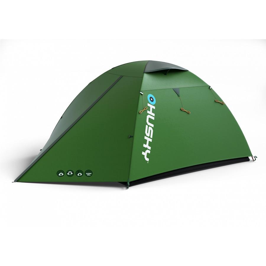 Палатка Husky Beast 3экстремальная палатка, 3-местная, внутренний каркас, алюминиевые дуги, 2 входа / одна комната, высокая водостойкость, вес: 3.3 кг<br><br>Вес кг: 3.30000000