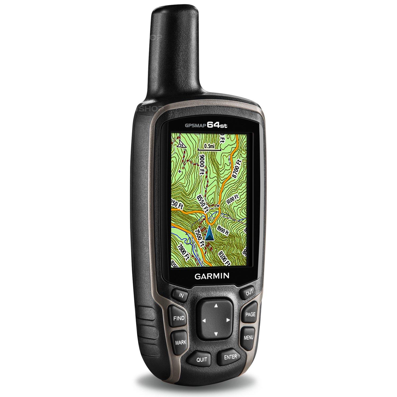 """Туристический навигатор Garmin GPSMAP 64stС предустановленной картой Дороги России. РФ. ТОПО.<br><br>Старшая модель популярной GPSMap 64. До 8гб расширена память для карт и данных. Добавлена возможность подключать дополнительные датчики по протоколу ANT+, а также сопряжение с совместимым смартфоном по Bluetooth и получение уведомлений. В старшей модели также встроен барометрический высотомер и барометр для измерения высоты и предупреждений о резких изменениях погоды. Вместе с GPSMap 64 st предлагается бесплатная годовая подписка на сервис спутниковых снимков Birdseye.<br><br>Модель GPSMAP 64st включает цветной экран с диагональю 2.6"""" и отличным качеством изображения даже при солнечном свете, а также высокочувствительный приемник GPS и GLONASS с антенной quad helix для превосходного приема. Навигатор GPSMAP 64st оснащен электронным 3-осевым компасом, барометрическим альтиметром и возможностями беспроводного подключения. Устройство поставляется с предзагруженными картами Дороги России ТОПО и годовой подпиской на спутниковые изображения BirdsEye.<br><br>Устройство GPSMAP 64st поставляется с встроенной базовой картой мира с затененным рельефом и предзагруженными картами Дороги России ТОПО плюс подписка на 1 год на спутниковые изображения BirdsEye. Таким образом, у Вас под рукой будут все необходимые инструменты для пешего туризма и альпинизма. Карты включают в себя национальные, государственные или местные парки и леса, контуры рельефа, информацию о высоте, тропы, реки, озера и различные объекты.<br><br>Навигатор GPSMAP 64st оснащен встроенным электронным 3-осевым компасом с компенсацией: Вы будете получать точные показания направления даже в том случае, если Вы перемещаетесь и не держите прибор ровно. Барометрический альтиметр отслеживает изменения барометрического давления для точного определения высоты. Используя график барометрического давления в зависимости от времени, Вы можете следить за изменениями погоды.<br><br>Вы можете обмениваться маршрутными точками, трека"""