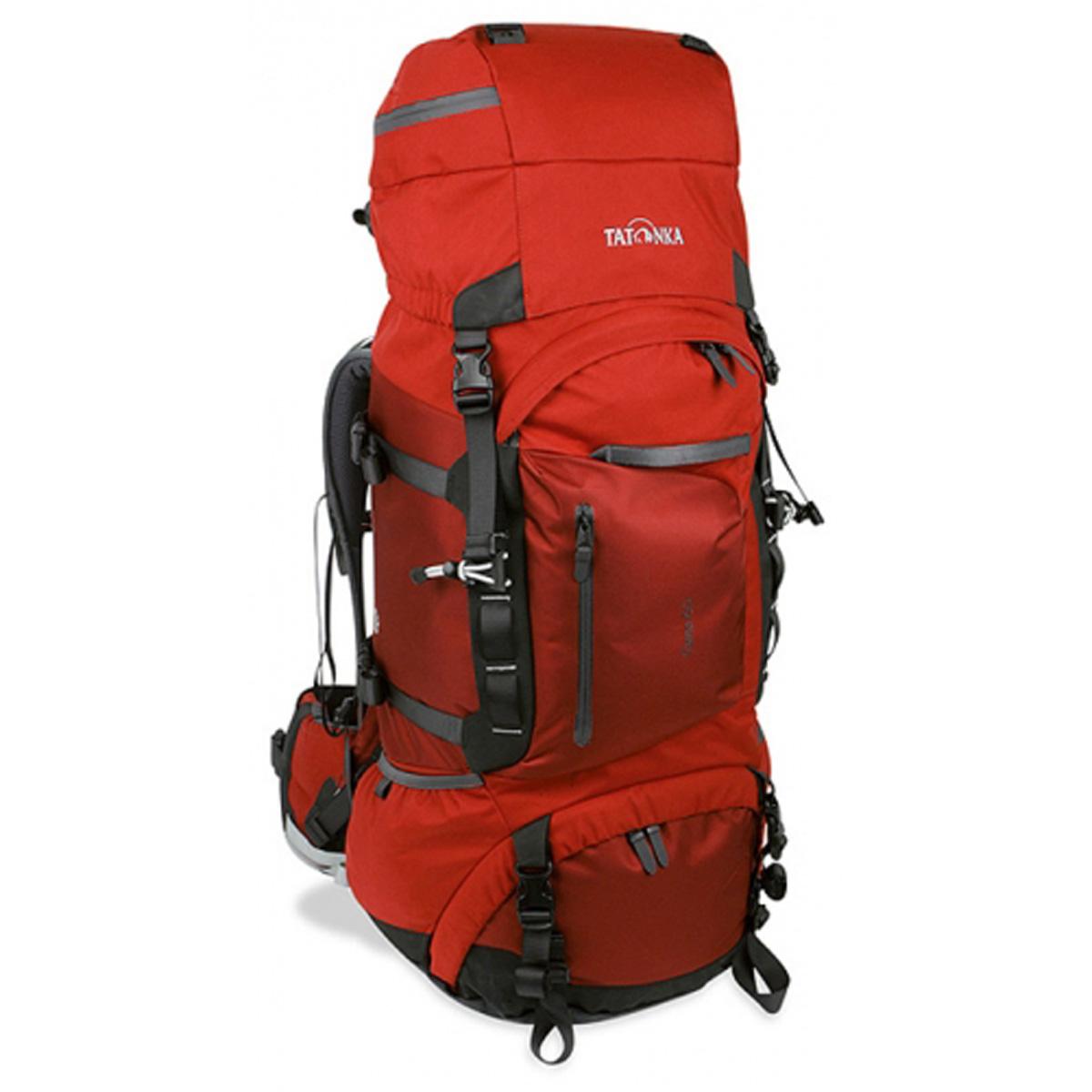 Рюкзак Tatonka Tana 60 salsa 1424.088Женская топ-модель рюкзака для переноски тяжелых грузов. Разработана на основе легендарного Bison 90 и в плане оснащения ни в чем ему не уступает. Система подвески Х-1 с регулируемой длиной спинки, мягкие анатомические плечевые и поясной ремни отлично распределяют нагрузку и значительно облегчают процесс.<br><br><br>Система подвески Х-1.<br><br>Мягкие анатомические плечевые ремни.<br><br>Регулируемая по высоте крышка-клапан с петлями.<br><br>Большой накладной карман на молнии.<br><br>Доступ в нижнее отделение на молнии.<br><br>Передний карман на молнии Thermo Fusion.<br><br>Боковые карманы, с одной стороны на молнии.<br><br>Мягкий регулируемый поясной ремень.<br><br>Ручки для переноски.<br><br>Крепления для палок или ледоруба.<br><br>Боковые стяжки.<br><br>Отделение для аптечки.<br><br>Держатель для ключей.<br><br>Дождевой чехол.<br><br>Дамский логотип.<br><br>Вес кг: 3.50000000