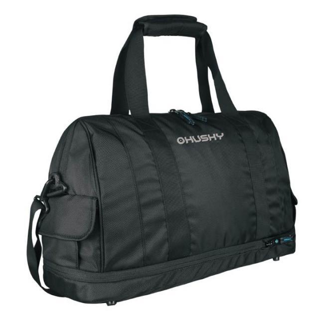 Сумка Husky Glint 27/33Husky GLINT 27/33l – стильная и удобная спортивная сумка. При необходимости легко увеличивается с 27 литров до 33х, благодаря отстёгивающемуся дну. GLINT удобна и в поездках, в качестве дорожной сумки.<br><br>Вес кг: 0.60000000