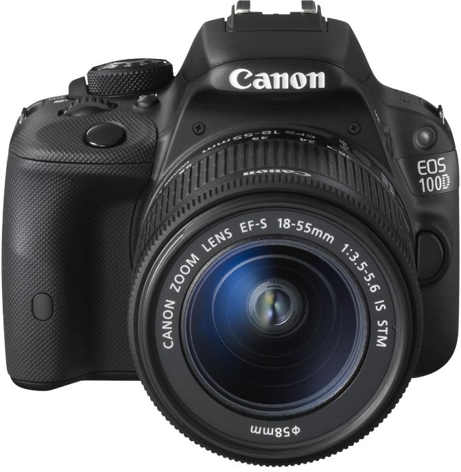 Фотоаппарат Canon EOS 100D Kit 18-55 IS STM Зеркальныйлюбительская зеркальная фотокамера, поддержка сменных объективов с байонетом Canon EF/EF-S, объектив в комплекте матрица 18.5 мегапикселов (22.3 х 14.9 мм), съемка видео разрешением до 1920x1080, сенсорный экран 3, вес камеры, без объектива 407 г<br><br>Вес кг: 0.50000000