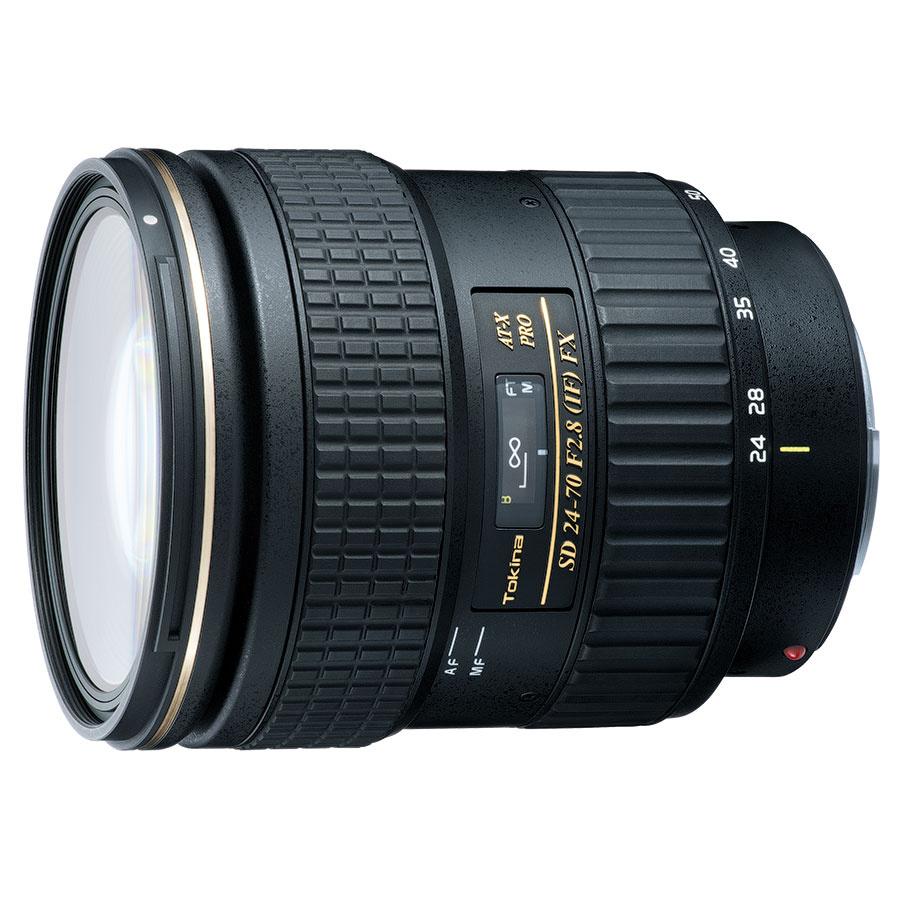 Объектив Tokina AT-X PRO 24-70mm f/2.8 Aspherical SD (IF) FX Canon EFПосле появления камер с сенсорами свыше 50 мегапикселей, рынок вступил в эпоху фотографии сверхвысокого разрешения. Производители оптики вслед за рынком также должны предлагать самые передовые решения, поэтому при разработке объектива Tokina AT-X 24-70 F2.8 PRO FX инженеры исходили из самых высоких требований к разрешающей способности оптики. Данная модель относится к серии FX и разработана для полнокадровых цифровых камер. Диапазон фокусных расстояний 24-70 мм является наиболее оптимальным и позволяет фотографу вести съёмку большей части сюжетов с помощью одного объектива. В то время как высокая светосила F2.8 даёт возможность делать чёткие снимки с рук (т.е. без штатива) даже в условиях ограниченной освещённости.<br><br>Высокие оптические характеристики<br>Мультипросветление<br>Художественное боке<br>Надёжность и долговечность<br>Влагозащита<br>Переключение фокуса одним касанием<br>Тихий мотор<br><br>Вес кг: 1.10000000