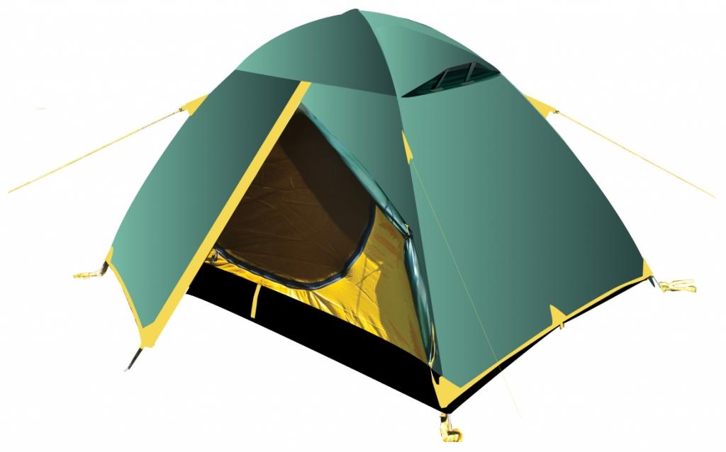 Палатка Tramp SCOUT 3 трекинговаятрекинговая палатка, 3-местная, внутренний каркас, дуги из стеклопластика, 2 входа / одна комната, высокая водостойкость, вес: 3.36 кг<br><br>Вес кг: 3.36000000