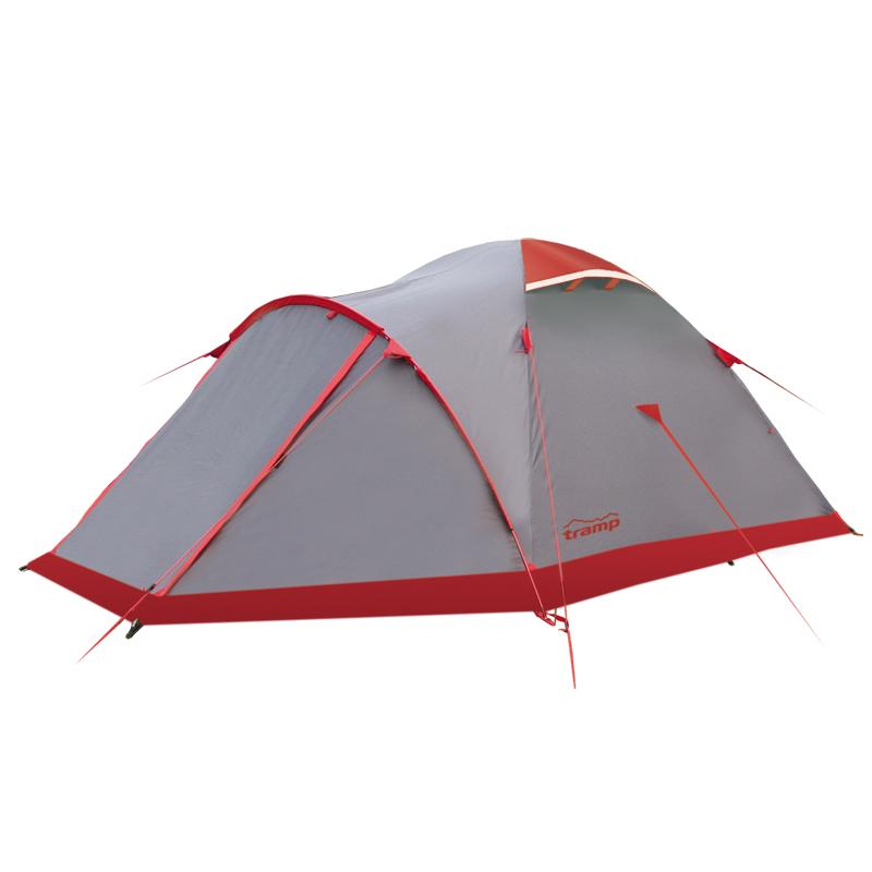 Палатка Tramp MOUNTAIN 2 экстремальнаяMountain 2 - довольно высокая (1,2 м) купольная палатка, рассчитанная на 2 человек. Изделия данной серии разработаны компанией «Tramp» специально для длительных экспедиций различной сложности, не боятся суровых погодных условий и надежно защитят от них путешественников. Дуги, формирующие купол палатки, сделаны из алюминиевого сплава, отличаются высокой прочностью и легкостью. Основной вес приходится на ткань тента и внутренней палатки – полиэстер с различными способами обработки. Так, навес и дно спального отсека сделаны максимально плотными и водостойкими. Кроме того тент обработан специальным составом, позволяющим материалу лучше удерживать огонь.<br><br>Ткань также устойчива к воздействию ультрафиолета, так что палатку можно ставить в любой местности. Палатка имеет 2 расположенных друг напортив друга входа, перед которыми, за счет тента, образуются тамбуры. Тот что на переднем – больше, за счет дополнительной дуги.<br><br>Во внутренней палате достаточно места, чтобы разместить спальные мешки и свободно передвигаться. Как и большинство современных моделей, она имеет карманы, для мелких предметов первой необходимости, место для установки фонарика и полотна москитной сетки, защищающей входы и окна от попадания внутрь насекомых.<br><br>Закрыв тамбуры в Mountain 2, путешественники оказываются почти полностью отрезанными от наружной непогоды. с земли их защищает дно внутренней палатки и снежная юбка на тенте, а с остальных сторон – 2 слоя ткани проклеены швами. Доступ воздуха внутрь при этом обеспечивается 2 вентиляционными клапанами.<br><br>Вес кг: 3.68000000