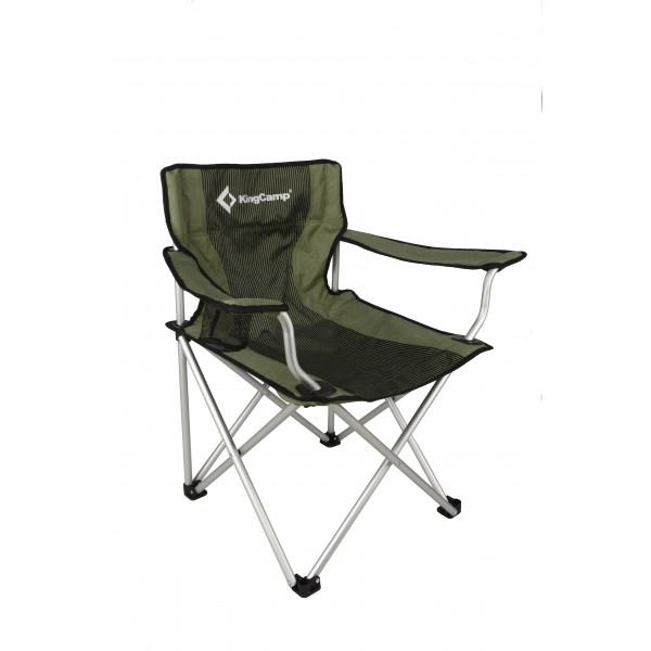 Стул KingCamp Alu Arms ChairЭто складное кемпинговое кресло с прочным алюминиевым каркасом и плотной нейлоновой тканью.<br><br>Вес кг: 3.50000000