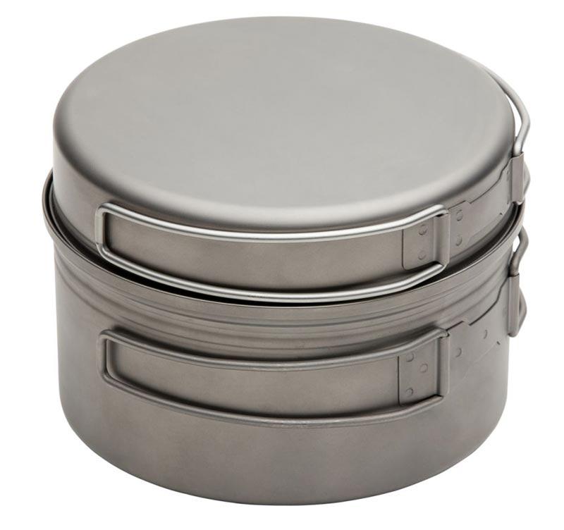 Набор посуды Fire-Maple Horizon 1 титановый на 1-2 человекТитановый котелок с крышкой. Разработан для использования в экстремальных видах спорта. Котелок и крышка имеют складывающиеся ручки. Крышка может использоваться отдельно, как миска или сковородка. Упакован в сетчатый мешочек.<br><br>Вес кг: 0.30000000